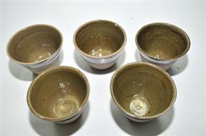 ถ้วยรองน้ำยาง เซรามิค น้ำยางไม่ติดถ้วย