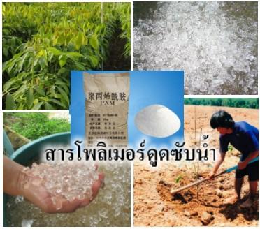 โพลิเมอร์ดูดซับน้ำ(PolymerAbsorber)คือสารอุ้มน้ำโพลีเมอร์